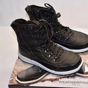 New Weatherproof Katie Sneaker Boots! Black